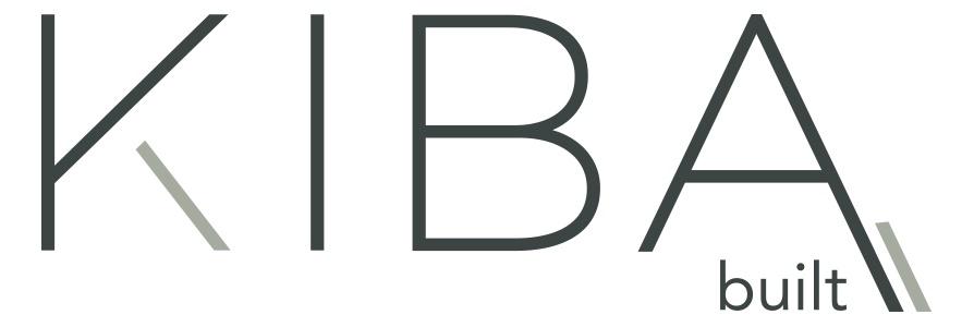 official business logo of Kiba Built